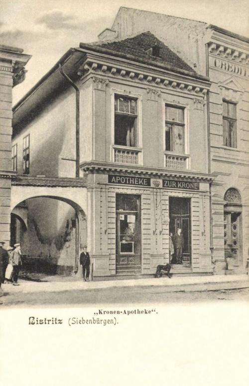 Beszterce:Korona gyógyszertár,1906