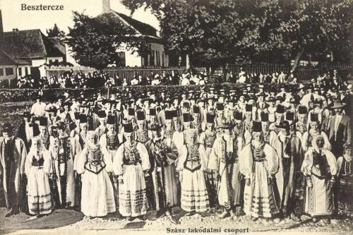 Beszterce:szász lakodalmi csoport,1915