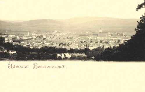 Beszterce:látkép a templomokkal,1902