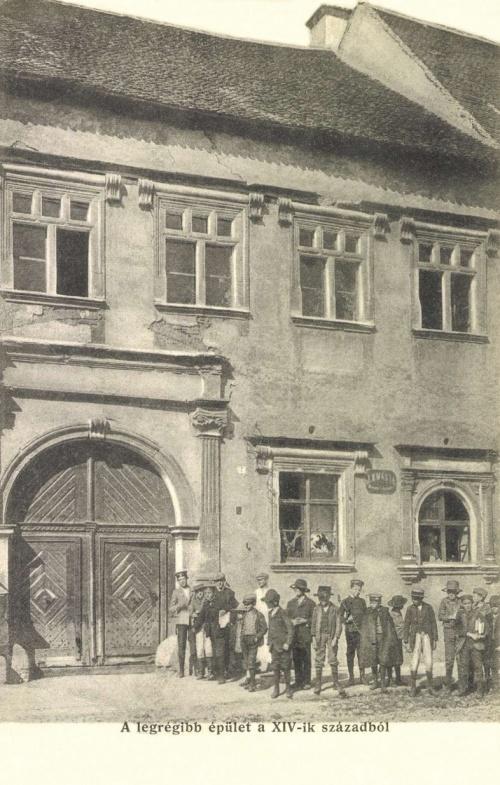Beszterce:régi ház az 1300-as évek közepéről,1906