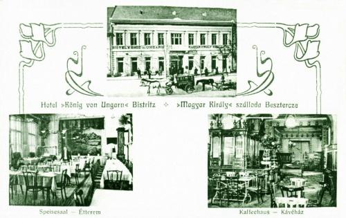 Beszterce:Magyar Király szálloda,étterem és kávézó,1906