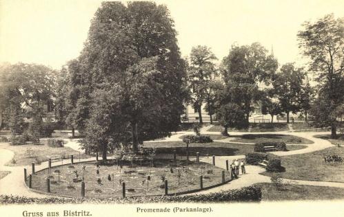 Beszterce:park,1906