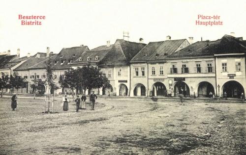 Beszterce:piac tér,1908