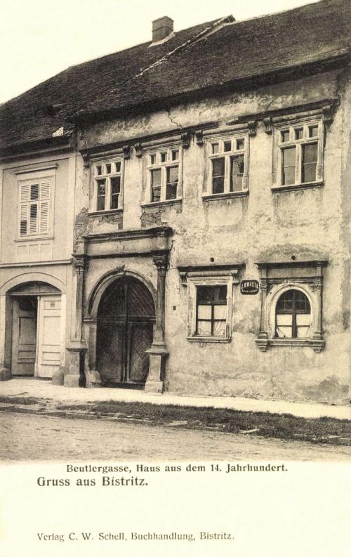 Beszterce:régi ház a XIV századból,1906