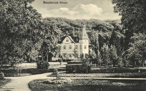 Beszterce:sétatéri park,1915