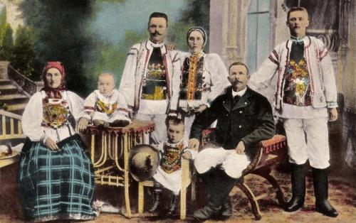 Beszterce:szász népviselet,1916