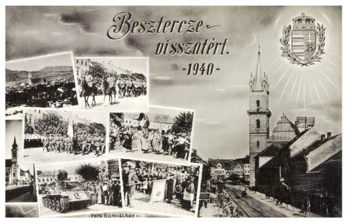 Beszterce:visszatért,magyar honvédek bevonulása,1940