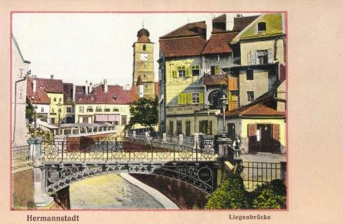 Nagyszeben:1859-ben épült Liegenbrücke,1910.