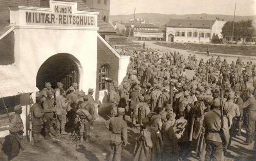 Nagyszeben:katonai kiképző iskola,1916.
