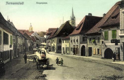 Nagyszeben:Polgár utca,1907.