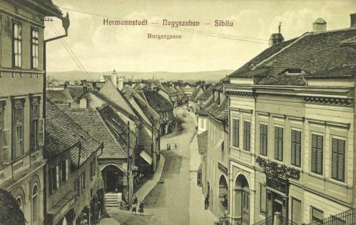 Nagyszeben:Bürgerstrasse,1911.