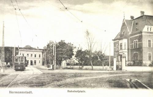 Nagyszeben:vasútállomás és villanytelep,1906.