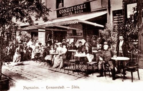 Nagyszeben:Julius Boda cukrászdája,1905.