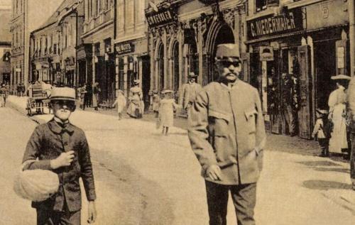 Nagyszeben:Nagydisznódi utca üzletei,1907.