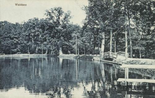 Nagyszeben:erdei tó,1917.