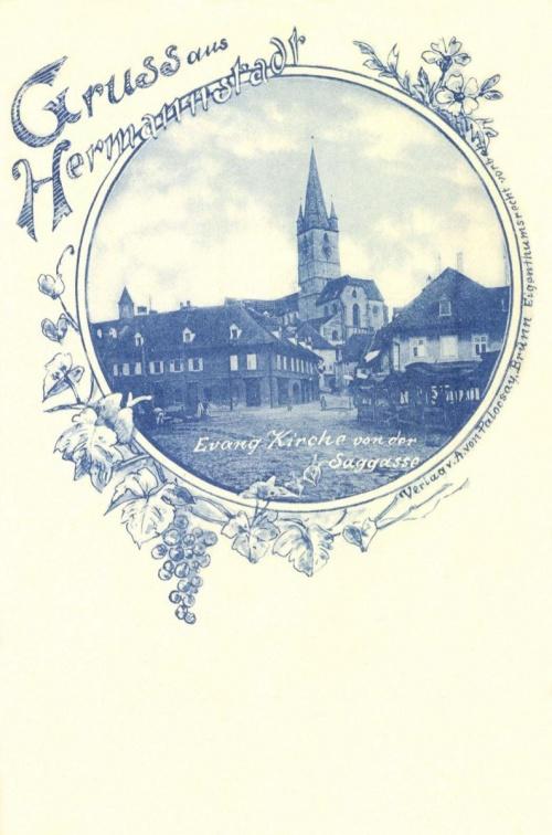 Nagyszeben:látkép az evangélikus templommal,1898.