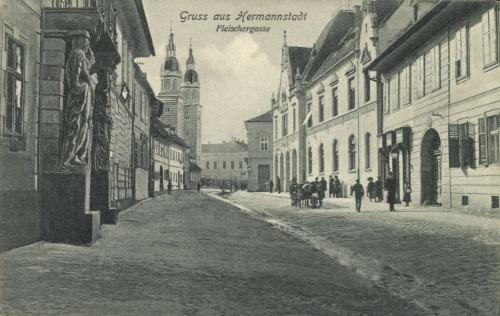 Nagyszeben:Hentes utca,1906.