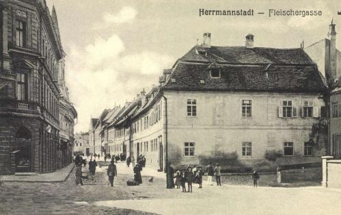 Nagyszeben:Fleischergasse,1907.