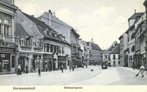 Nagyszeben:Nagydisznódi utca,Julius Meinl üzlete,1907.