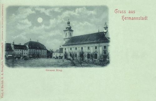 Nagyszeben:Nagy-tér a katolikus templommal,1898