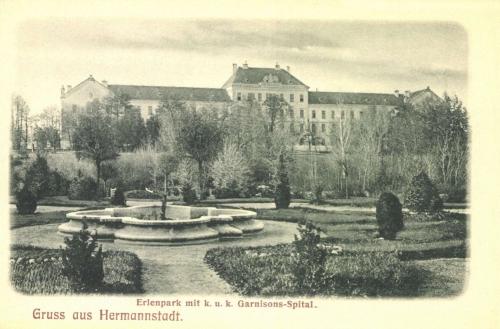 Nagyszeben:Erlenpark és katonai korház,1906.