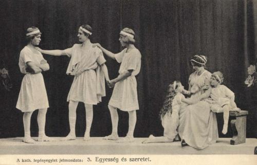 Nagyszeben:katolikus legényegylet szinházi előadása,1912.