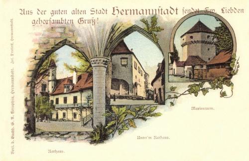Nagyszeben:régi városháza,Mária-torony,1901