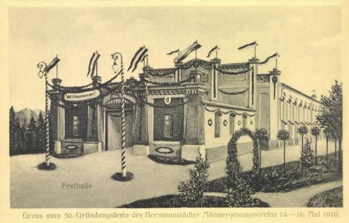 Nagyszeben: 50 éves jubileumi ünnepségi csarnok,1910 május 14-16.