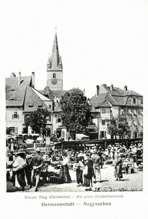 Nagyszeben:Kispiac,gyümölcsvásár,1917.