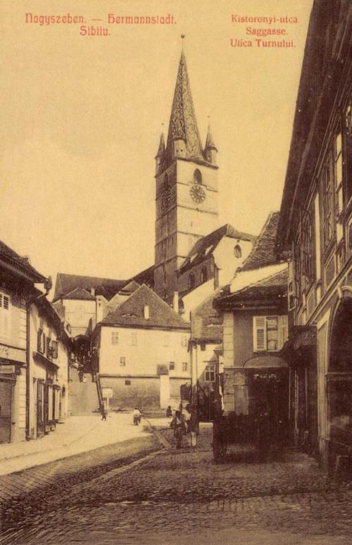 Nagyszeben:Kistoronyi,utca,1907.