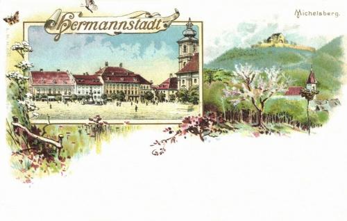Nagyszeben:litográfia,1897.