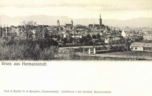 Nagyszeben:a város látképe,1904.