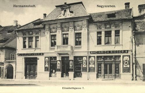 Nagyszeben:likörgyár az Erzsébet utcában,1907.