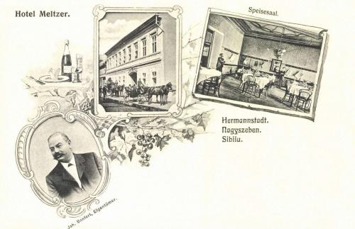Nagyszeben:Meltzer szálloda és étterem,1906.