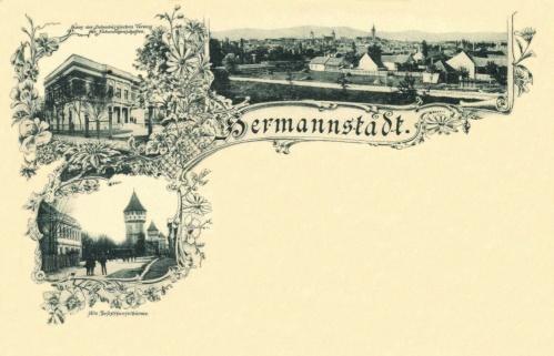 Nagyszeben:Természettudományi Múzeum,Szinház a bástyákkal,1896.
