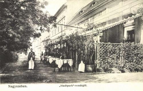 Nagyszeben:városligeti park vendéglő,1906.