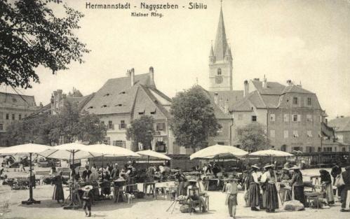 Nagyszeben:Kis téri piac,1912.