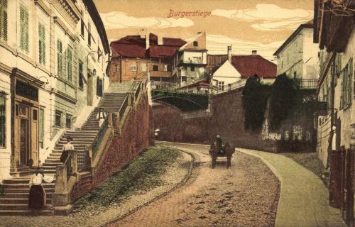 Nagyszeben:Polgár lépcső,1916.