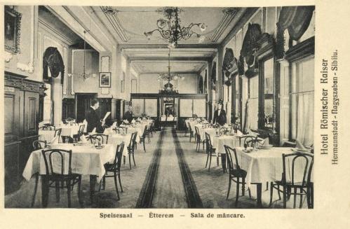 Nagyszeben:Római császár szálloda  étterme,1906.