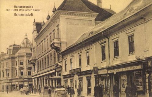 Nagyszeben:Római Császár szálloda,1915.