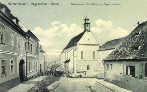 Nagyszeben:Riskási utca a zárdával,1907.