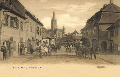 Nagyszeben:Zsák utca,1905.