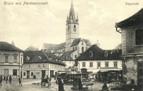 Nagyszeben:Saggasse,1912.