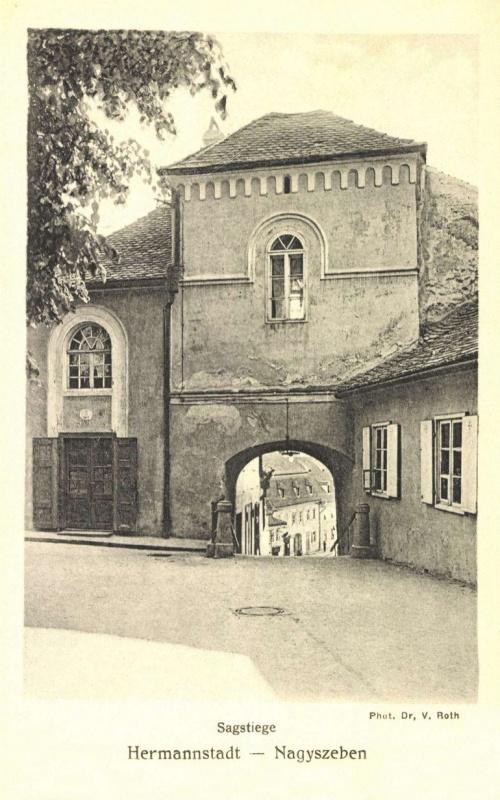 Nagyszeben:Kistorony a lépcsővel,1908.