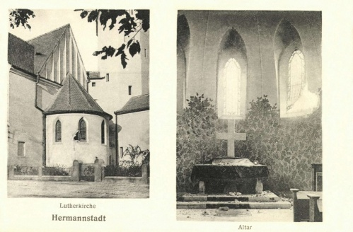 Románok által szétlőtt református templom,1916 szeptember.