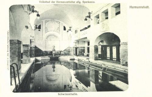 Nagyszeben:Népfürdő uszodája,1907.