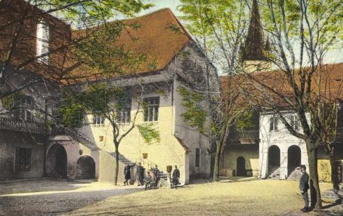 Hermannstadt:régi városháza udvara,1915.