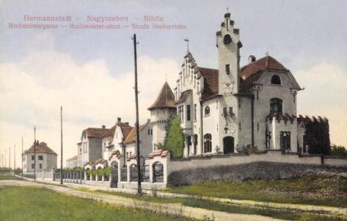 Nagyszeben:Hochmeister utca,tiszviselő telep villái,1914.