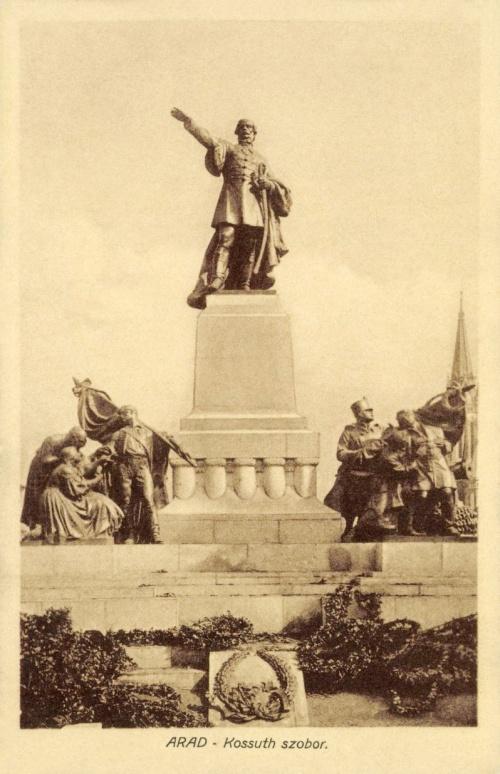 Arad:Kossuth szobor,1910.