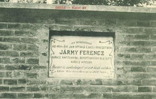 Bihar:Jármy Ferencz kuruc kapitány és vitézei sirja,1908